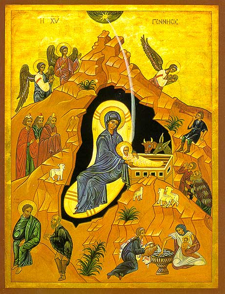 Image of The Nativity by Sr. Marie Paul, O.S.B.; © Monastère des Bénédictines du Mont des Oliviers and Editions CHOISIR, Genève. The Printery House, Conception, Missouri, exclusive U.S. agent. www.printeryhouse.org –Shown with permission.