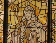 Good Shepherd stained glass window--photo by Julie McCarty