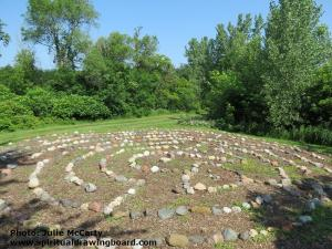Prayer labyrinth--photo by Julie McCarty