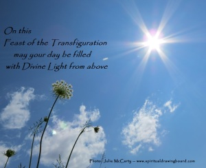 Transfiguration photo 2--by Julie McCarty --Spiritual Drawing Board