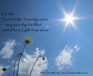 Transfiguration photo 2--by Julie McCarty --Spiritual Drawing Board
