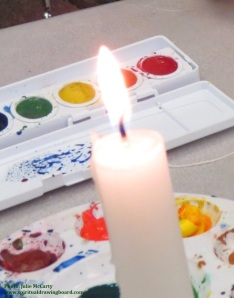 Candle with watercolors 4--Julie McCarty