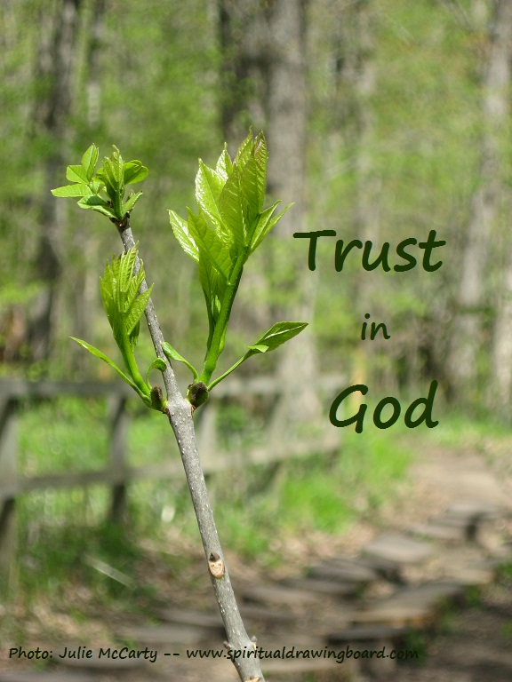 Budding leaves--Trust in God--Julie McCarty