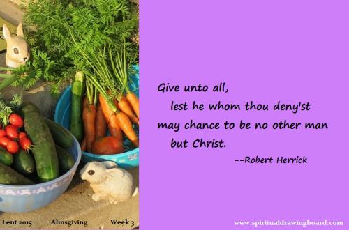 19 Lent--week 3--Almsgiving--Herrick
