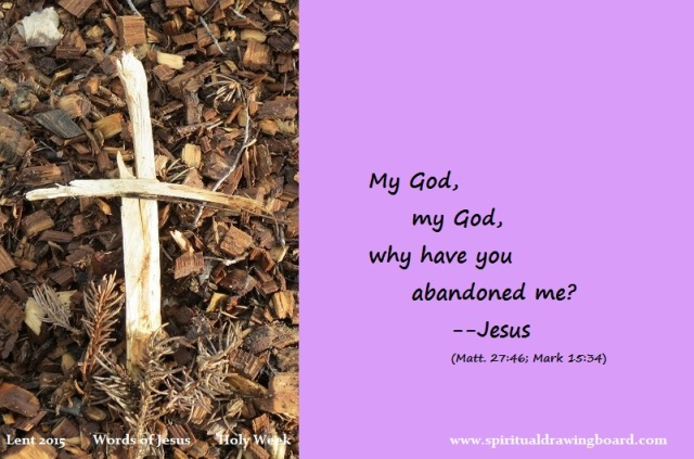 41 Lent--Holy Week--Words of Jesus--Why abandonment