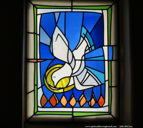 Holy Spirit--stained glass window--Julie McCarty--Spiritual Drawing Board